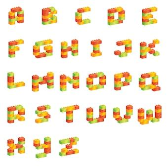 Fonte do alfabeto elegante