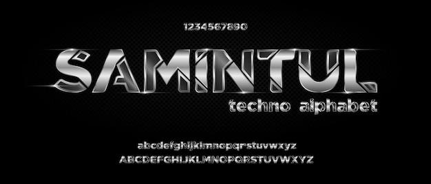 Fonte do alfabeto futurista moderno. fontes de estilo urbano de tipografia para tecnologia, digital, filme, design de logotipo