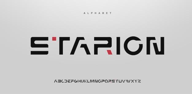 Fonte do alfabeto moderno abstrato em maiúsculas
