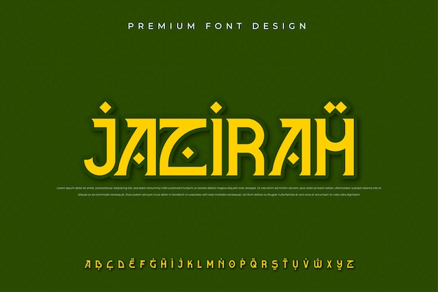 Fonte do alfabeto moderno árabe