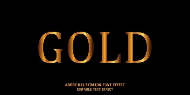 Fonte do alfabeto moderno efeito de estilo de texto de ouro editável
