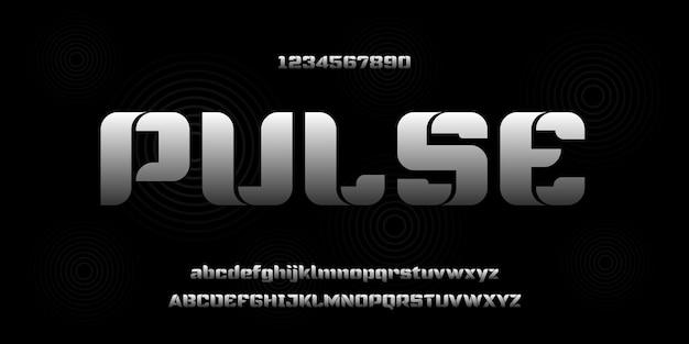 Fonte do alfabeto moderno elegante simples. tipografia estilo urbano