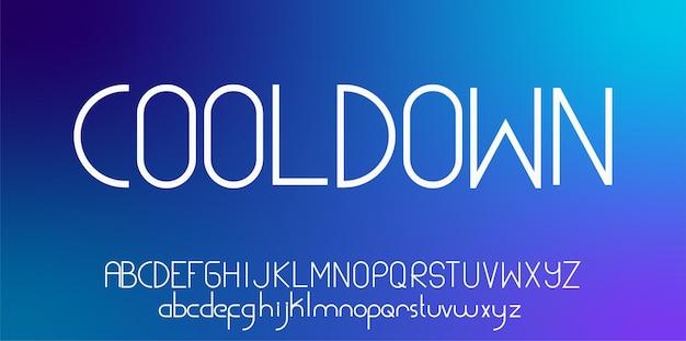 Fonte do alfabeto sans serif