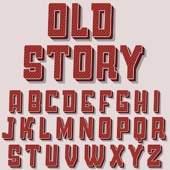 Fonte do alfabeto vintage.