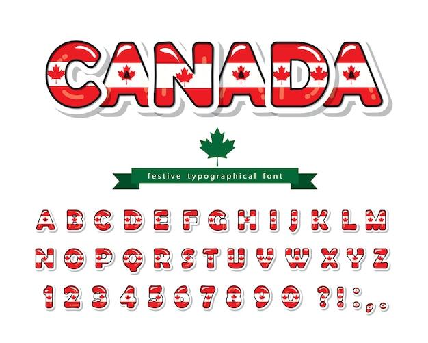 Fonte do canadá. bandeira nacional canadense