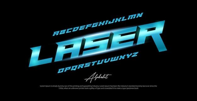 Fonte do esporte moderno alfabeto itálico. fontes de estilo urbano de tipografia