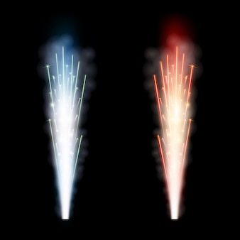 Fonte do fogo de artifício das faíscas saudação, coluna.