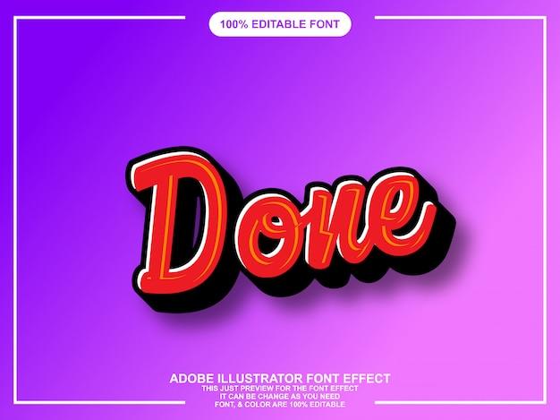 Fonte editável colorida do estilo gráfico do roteiro moderno da escova