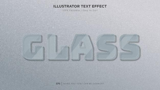 Fonte editável de efeito de texto de vidro