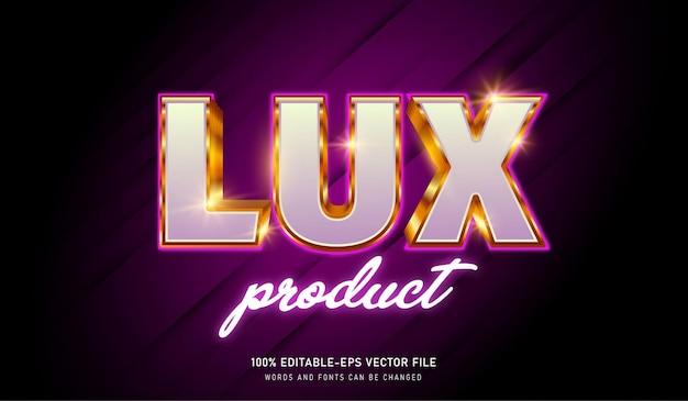 Fonte editável de efeito de texto do produto lux, boa para anúncios cosméticos