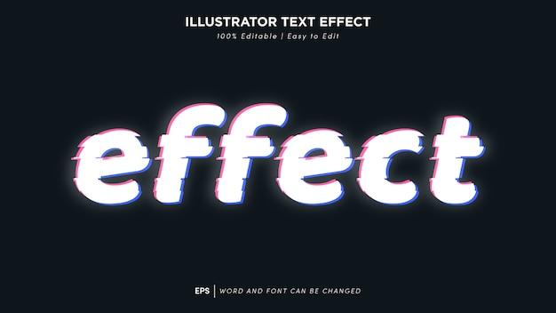 Fonte editável de efeito de texto glich