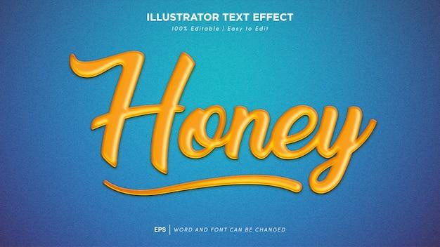 Fonte editável de efeito de texto mel