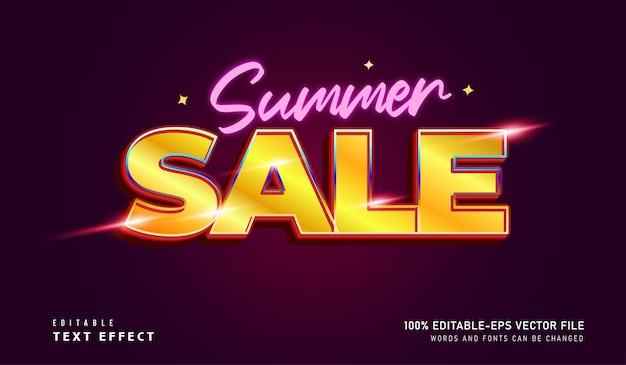 Fonte editável do efeito de texto da promoção de verão
