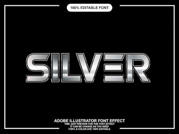 Fonte editável do estilo gráfico de prata moderno corajoso