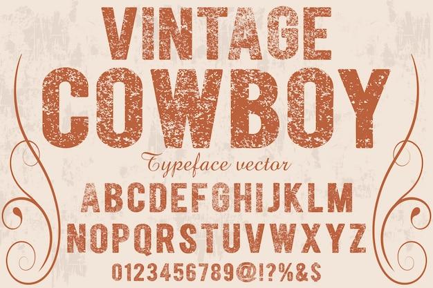 Fonte efeito de sombra vintage cowboy
