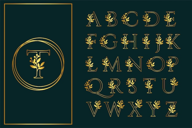 Fonte floral contorno san serif logotipo de casamento bonito