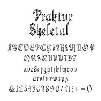 Fonte gótica vintage