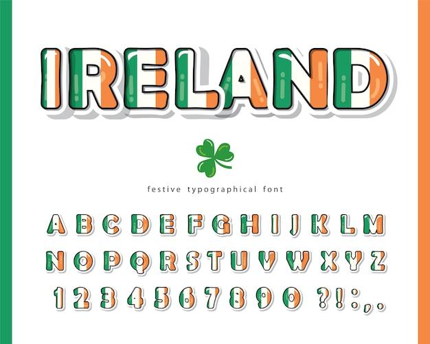 Fonte irlandesa para o dia de são patrício.