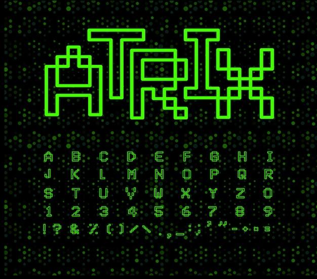 Fonte matrix no ciberespaço preto