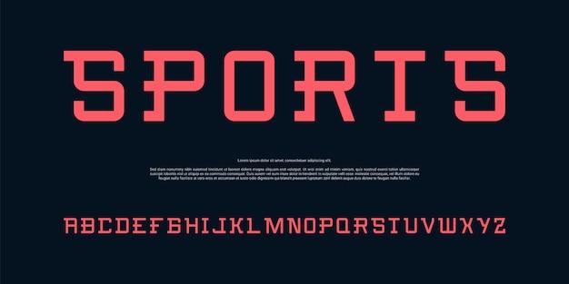 Fonte moderna alfabeto simples