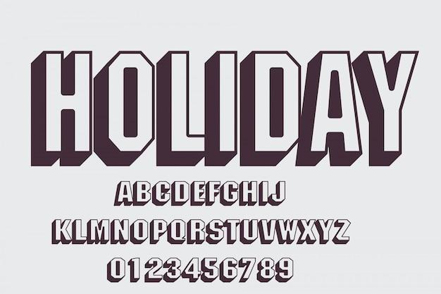 Fonte moderna bold (realce) e alfabeto, tipo de letra, letras e números, tipografia.