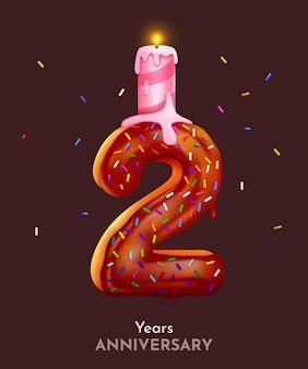 Fonte número dois do bolo de aniversário