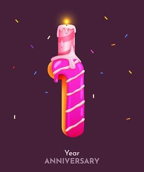 Fonte número um do bolo de aniversário