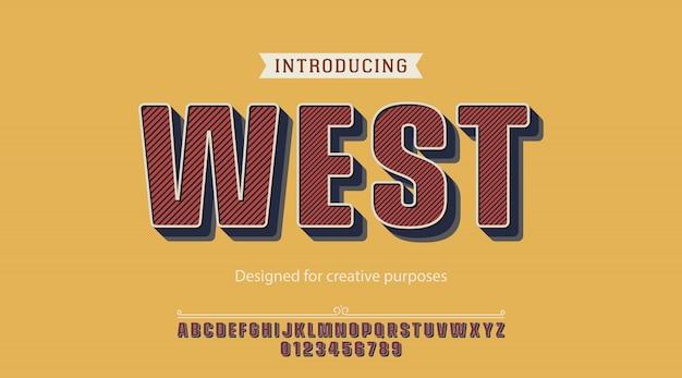 Fonte ocidental. para fins criativos