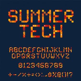 Fonte orange tech pixel