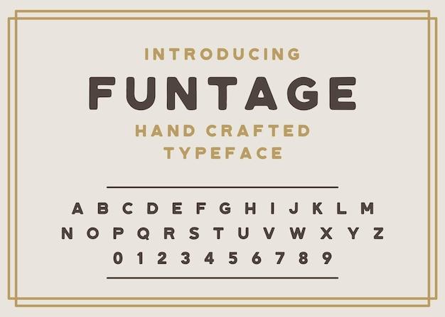 Fonte retro do alfabeto vintage