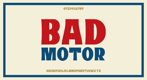 Fonte retro vintage sans serif arrojado, design de fonte minimalista e limpo,