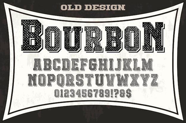 Fonte vintage estilo gráfico bourbon
