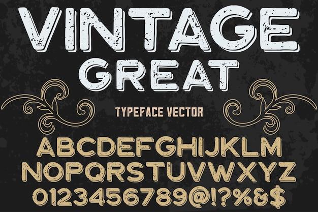 Fonte vintage estilo gráfico grande