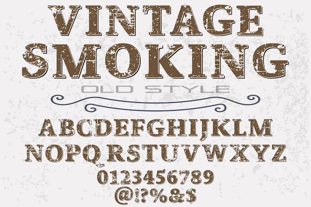 Fonte vintage fonte de fumo