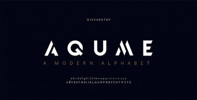Fontes abstratas digitais modernas alfabeto.