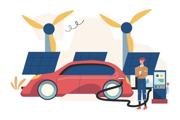 Fontes alternativas de energia renovável, energia solar, painéis solares tecnológicos