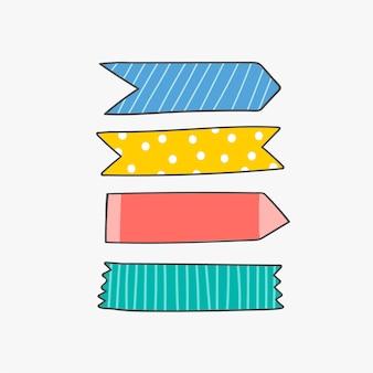 Fontes coloridas de papelaria