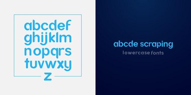Fontes de alfabeto limpas e simples