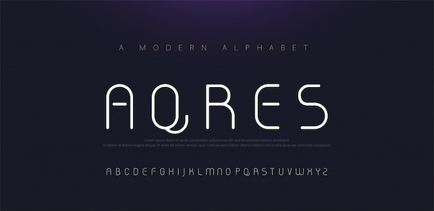 Fontes de alfabeto moderno mínimo