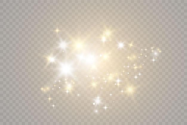 Fontes de luz de vetor, iluminação de concerto, conjunto de holofotes. refletor de concerto com feixe, holofotes iluminados para ilustração de web design.