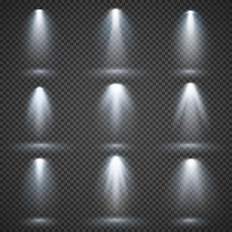 Fontes de luz do vetor