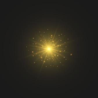 Fontes de luz em fundo escuro