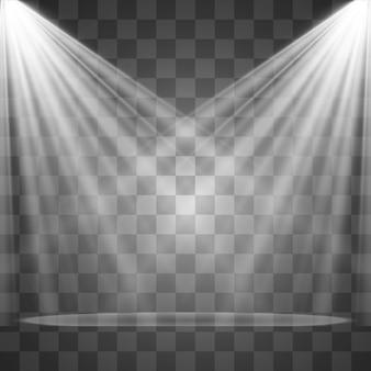 Fontes de luz, iluminação de concertos, holofotes. refletor de show com feixe, holofotes iluminados