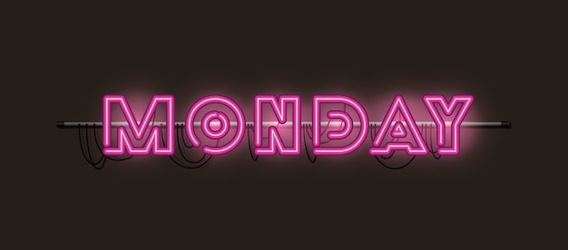 Fontes de segunda-feira luzes de néon