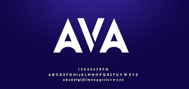Fontes digitais futuristas abstratas do alfabeto moderno