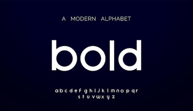 Fontes do alfabeto abstrato moderno.