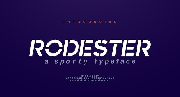 Fontes do alfabeto itálico urbano moderno abstrato. esporte de tipografia, simples, tecnologia, moda, fonte de logotipo criativo futuro digital.