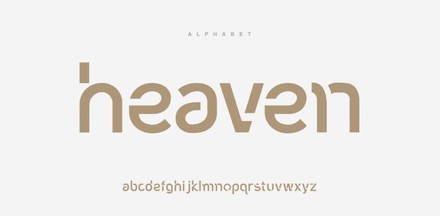 Fontes do alfabeto mínimo moderno abstrato. tipografia estilo urbano para diversão, esporte, tecnologia, moda, digital, fonte do logotipo criativo do futuro