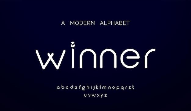 Fontes do alfabeto mínimo moderno abstrato.