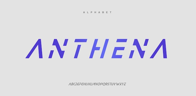 Fontes do alfabeto urbano moderno abstrato. logotipo da tipografia